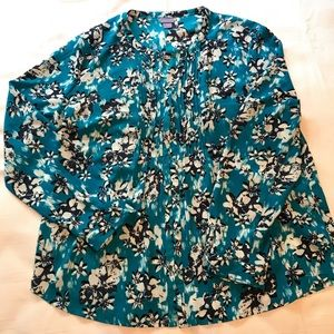 Laura Scott Womens Blouse Button Up size XL NWT